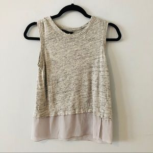 Banana Republic | Gray Layered Tank Blouse XXS
